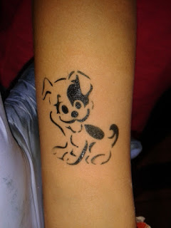 Airbrush Tattoo Hund